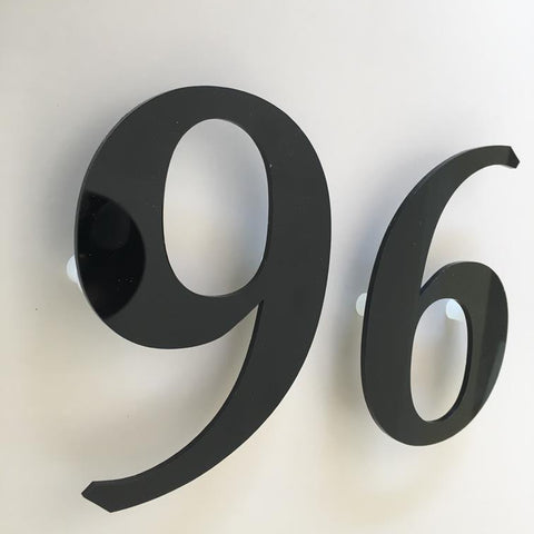 Black Gloss, Floating Finish, House Numbers - Book