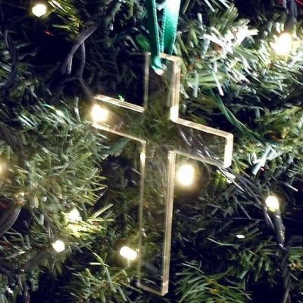 Cross Christmas Tree Decoration - Pack of Ten