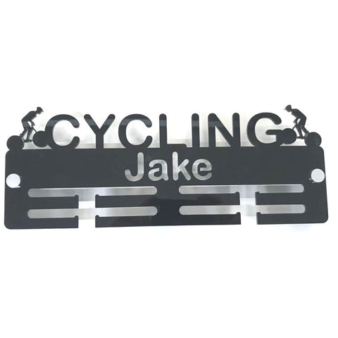 "Personalised ""Cyclist"" Medal Hanger"