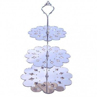Three Tier Doily Cake Stand