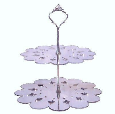 Two Tier Doily Cake Stand