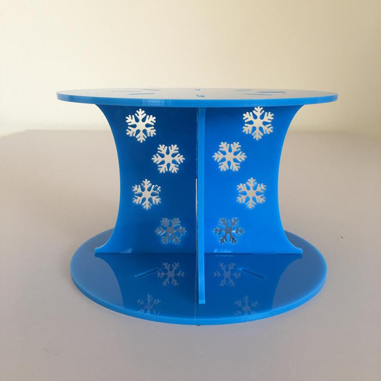 Frozen Snowflake Design Round Wedding/Party Cake Separator