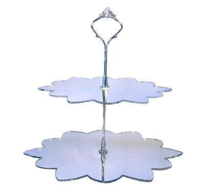 Two Tier Flower Cake Stand