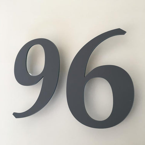 Graphite Matt, Floating Finish, House Numbers - Book