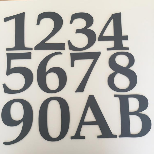 Graphite Matt, Flat Finish, House Numbers - Book