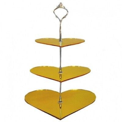 Three Tier Heart Cake Stand