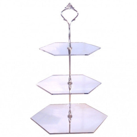 Three Tier Hexagon Cake Stand