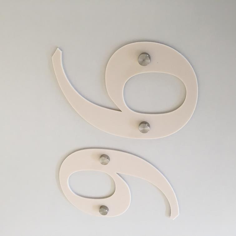 Latte Matt, Drilled Finish, House Numbers - Book