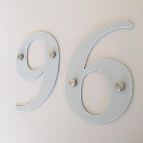 Light Grey Matt, Drilled Finish, House Numbers - Book