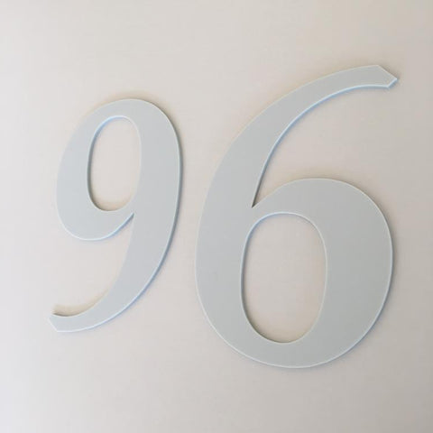 Light Grey Matt, Flat Finish, House Numbers - Book
