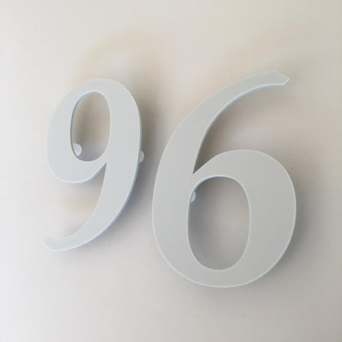Light Grey Matt, Floating Finish, House Numbers - Book