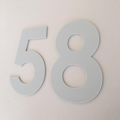 Light Grey Matt, Flat Finish, House Numbers - Century Gothic