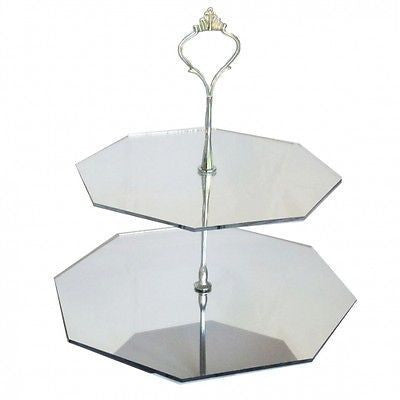 Two Tier Octagon Cake Stand
