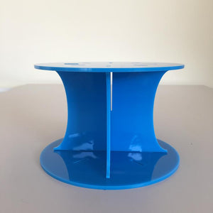 Classic Round Wedding/Party Cake Separator - Bright Blue