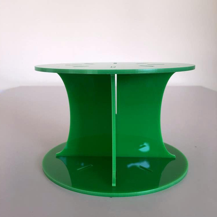 Classic Round Wedding/Party Cake Separator - Bright Green