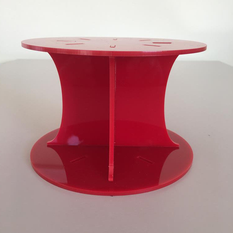 Classic Round Wedding/Party Cake Separator - Red