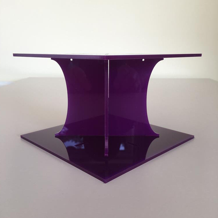 Classic Square Wedding/Party Cake Separator - Purple