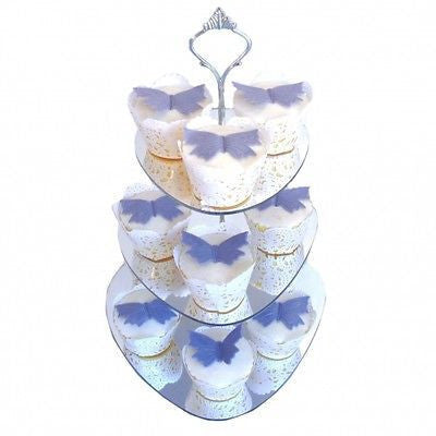 Three Tier Pebble Cake Stand