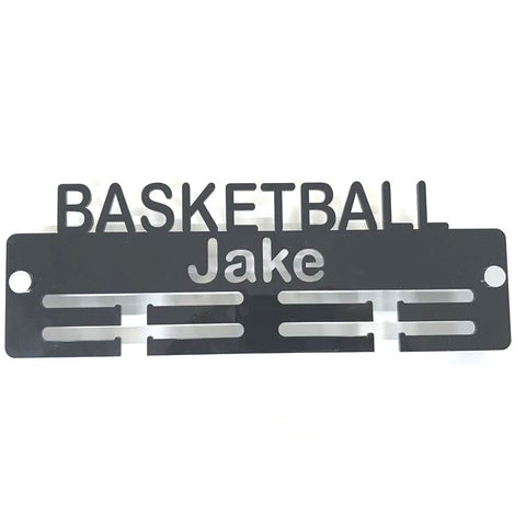 "Personalised ""Basketball"" Medal Hanger"
