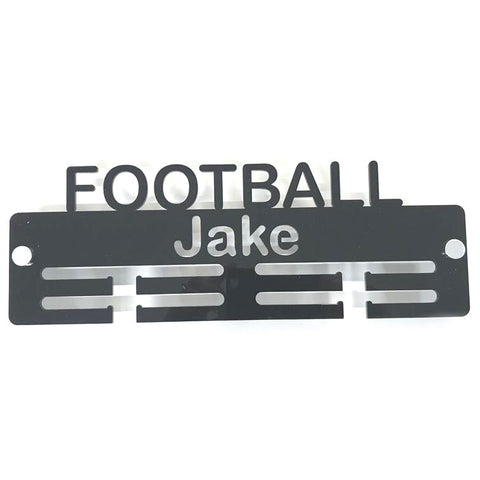 "Personalised ""Football"" Medal Hanger"