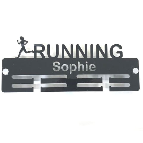 "Personalised ""Runner"" Medal Hanger"