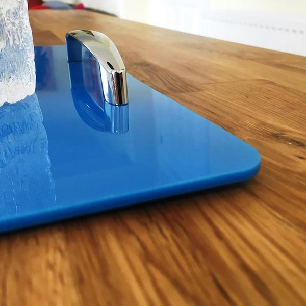 Rectangular Serving Tray with Handle - Bright Blue