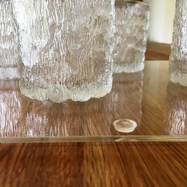 Rectangular Serving Tray with Handle - Clear