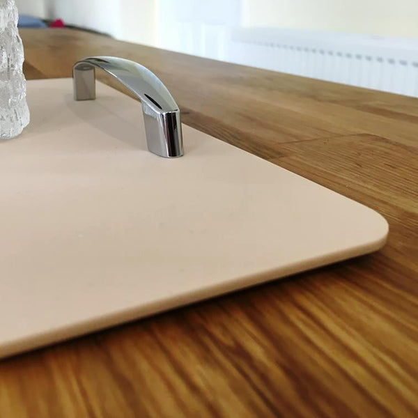 Rectangular Serving Tray with Handle - Latte