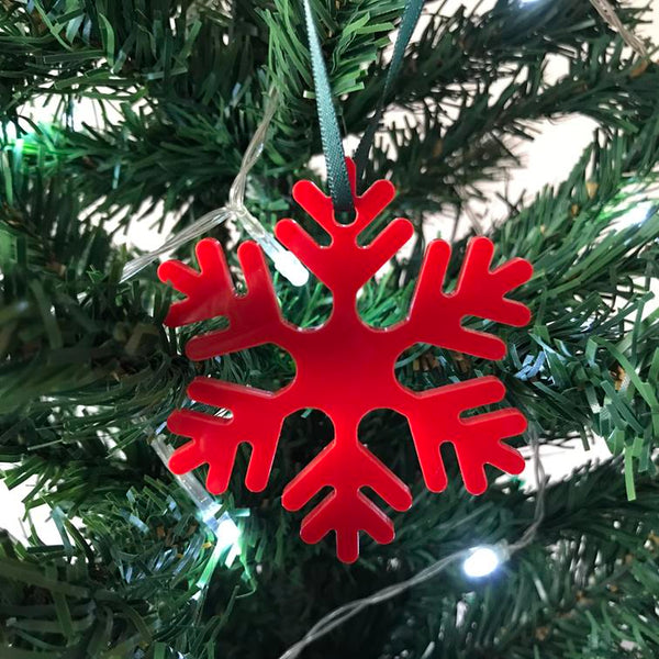 Icy Snowflake Christmas Tree Decorations