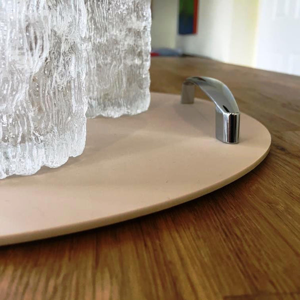 Round Serving Tray with Handle - Latte