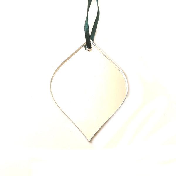 Diamond Bauble Christmas Tree Decorations Mirrored