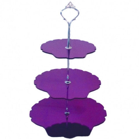 Three Tier Shell Cake Stand