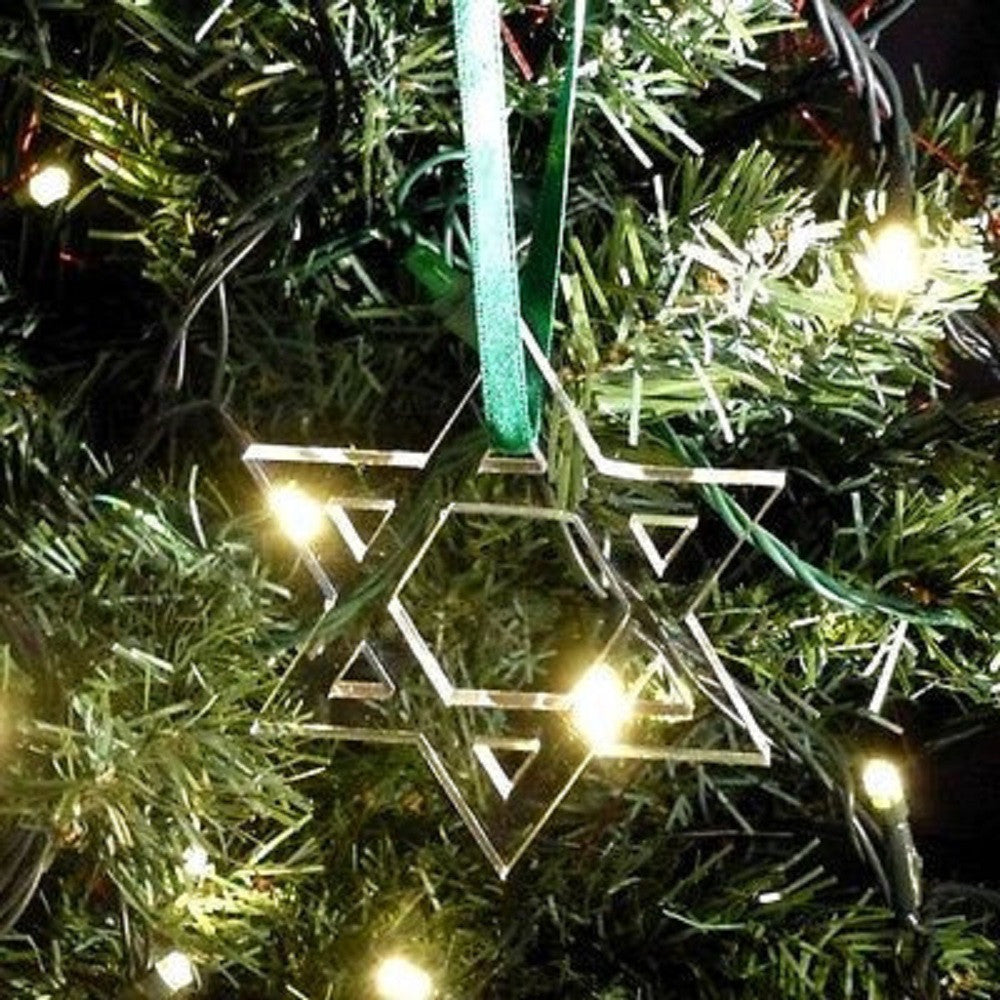 Star of David Christmas Tree Decoration - Pack of Ten