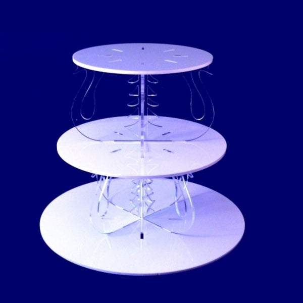 Three Tier Swan Design Round Cake Stand