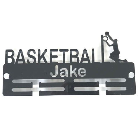 "Personalised ""Basketballer"" Medal Hanger"