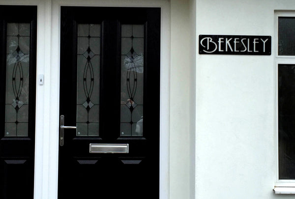 Personalised Art Deco House Sign