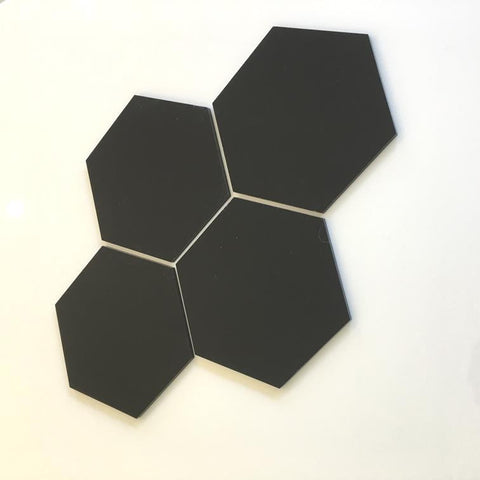 Hexagon Tiles - Black