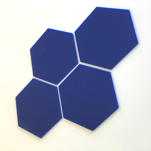 Hexagon Tiles - Blue