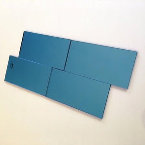 Rectangular Tiles - Blue Mirror