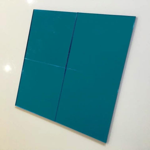 Square Tiles - Blue Mirror