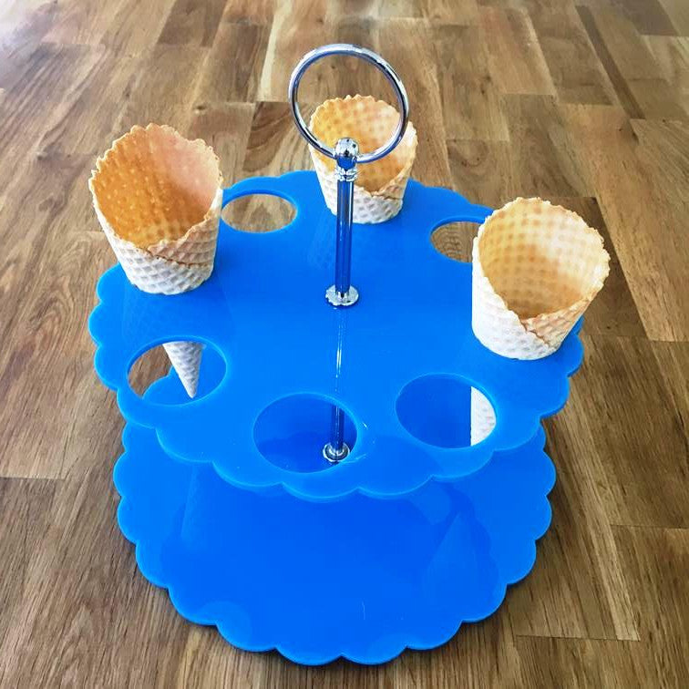 Ice Cream Cone Stand - Bright Blue