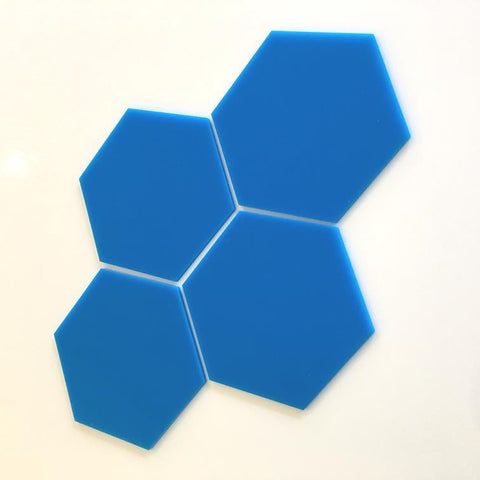 Hexagon Tiles - Bright Blue