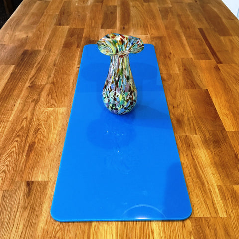 Bright Blue Rectangular Acrylic Table Runner