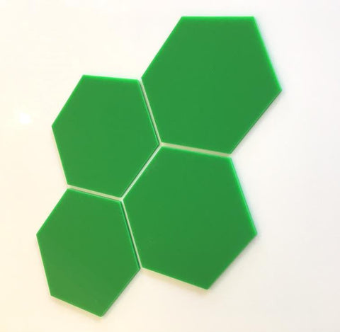 Hexagon Tiles - Bright Green