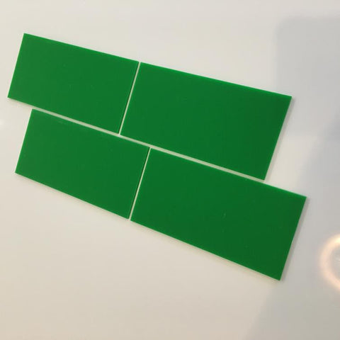 Rectangular Tiles - Bright Green