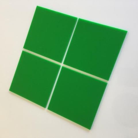 Square Tiles - Bright Green