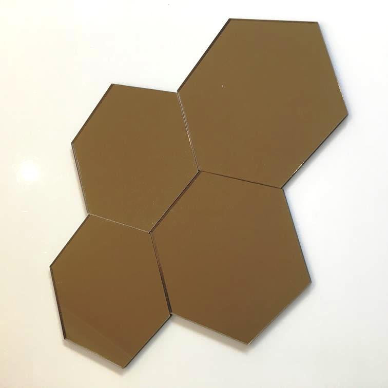 Hexagon Tiles - Bronze Mirror