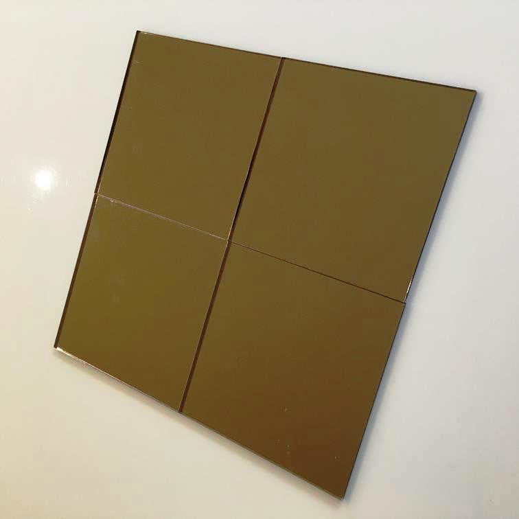 Square Tiles - Bronze Mirror