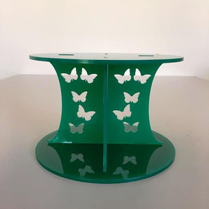 Butterfly Design Round Wedding/Party Cake Separator - Green