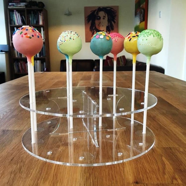 Cake Pop Stand Round - Clear